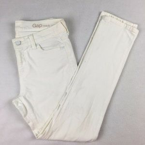 Gap Women's White Slim Straight Fit Jeans Pants